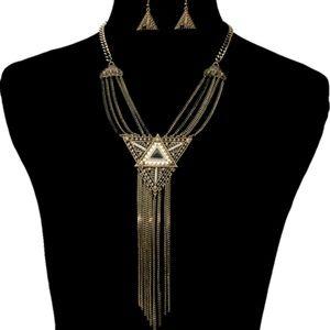 Burnish Chain Necklace Set